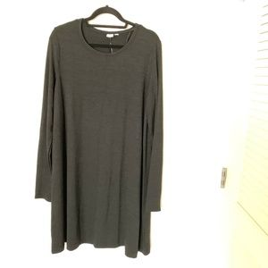 GAP Womens Long Sleeve Swing Dress Black XL Tall